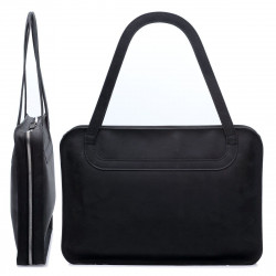 """ZIP BAG - leather bag with felt inlay for 13"""" laptops - made in Germany - available in black, dark brown and camel"""