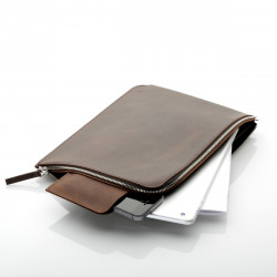 ZIP Sleeve iPad 2/3/4 Leder Earth