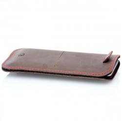 g.4 iPhone 8 Plus Hülle aus Leder in dunkelbraun, camel schwarz und grau