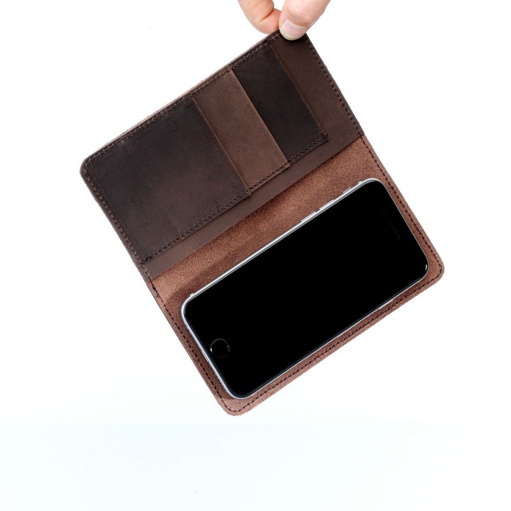 g.case iPhone 8 in black, grey, dark brown and camel leather
