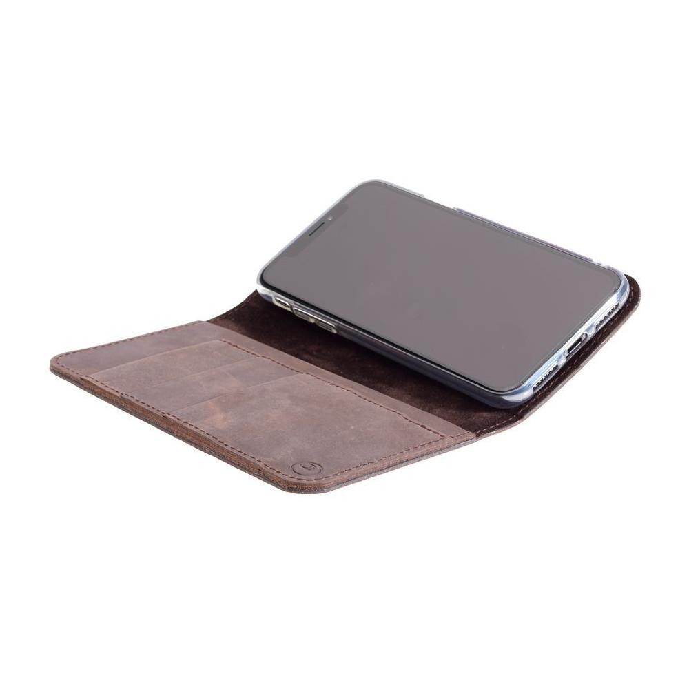 g.case iPhone X – Case und Portemonnaie in dunkelbraun, camel, schwarz und grau