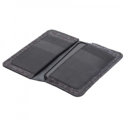 g.5 iPhone X Wallet in camel, black, grey and dark brown