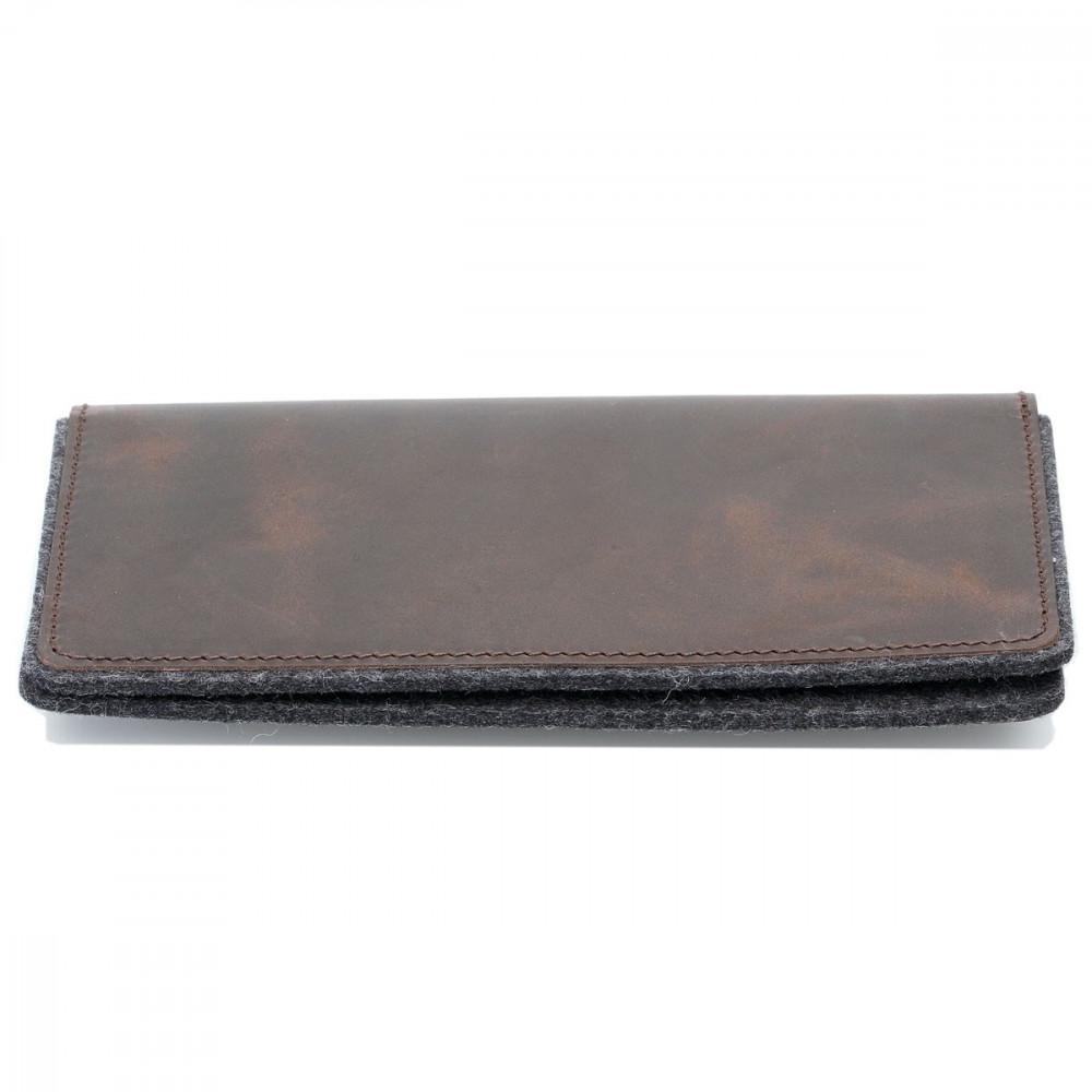 g.5 iPhone X Max Wallet in dunkel braun, hellbraun, schwarz und grau