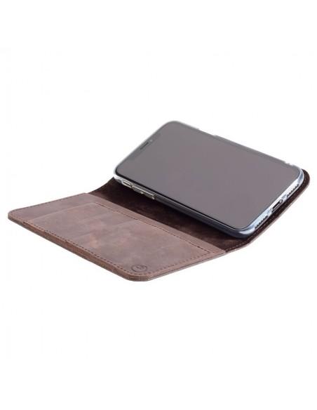 g.case iPhone XS – Case und Portemonnaie in dunkelbraun, camel, schwarz und grau
