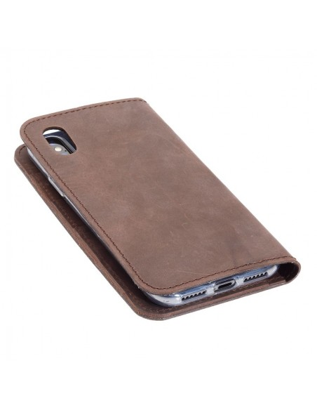 g.4 iPhone XS case in black, grey, dark brown and camel