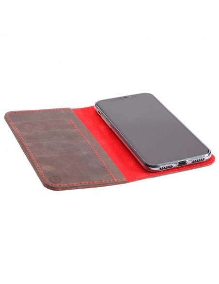 iPhone XS Max Folio Case– Case und Portemonnaie in dunkelbraun, camel, schwarz und grau