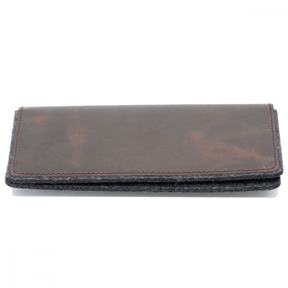 g.5 iPhone 8 Plus Leder Tasche in dunkel braun, hellbraun, schwarz und grau