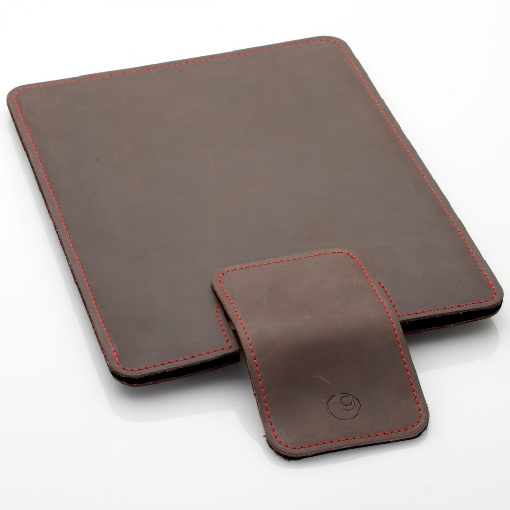 iPad Pro sleeve in black, brown and ark brown leather
