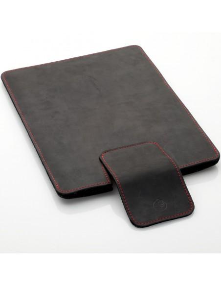"""MacBook Air 13"""" Hülle aus Leder in schwarz, braun und dunkelbraun"""