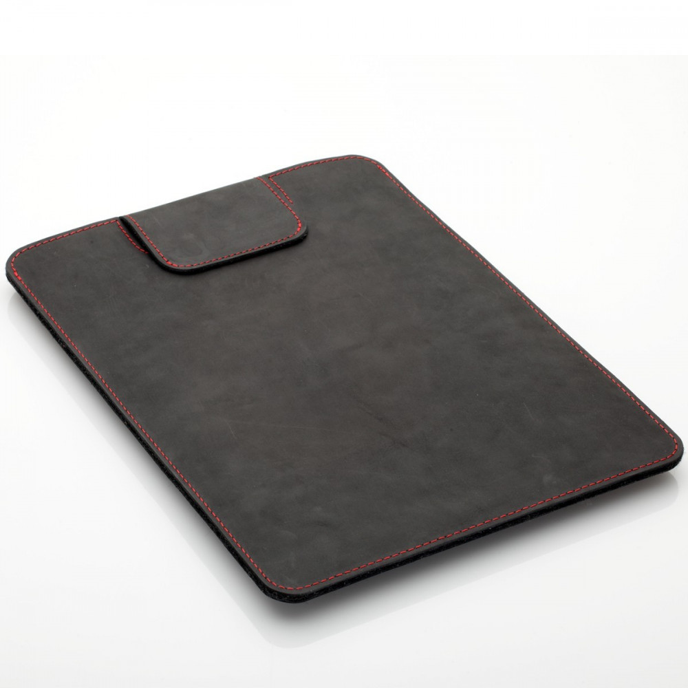 "MacBook Air 13"" Sleeve in black, brown and dark brown leather"