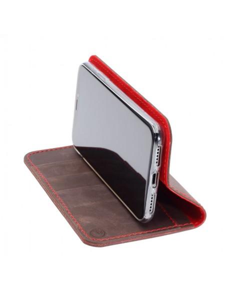 g.case iPhone XI – Case und Portemonnaie in dunkelbraun, camel, schwarz und grau