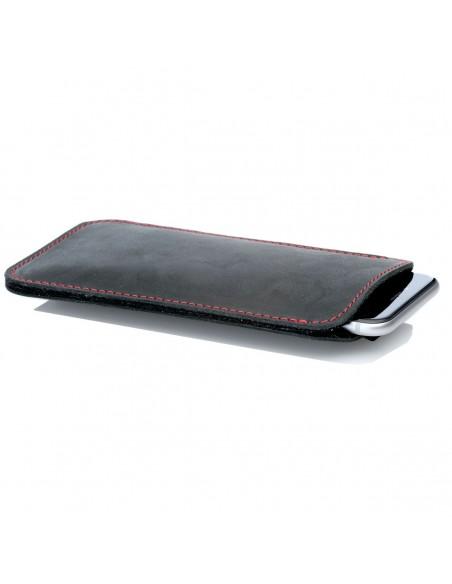 g.4 iPhone XI Max Hülle aus Leder in dunkelbraun, camel schwarz und grau