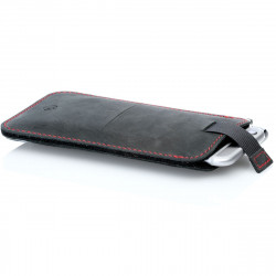 g.4 iPhone XI Max sleeve from leather in camel, dark brown, grey and black