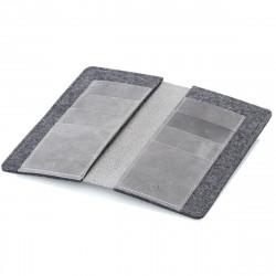 g.5 iPhone XIR Max Wallet in dunkel braun, hellbraun, schwarz und grau