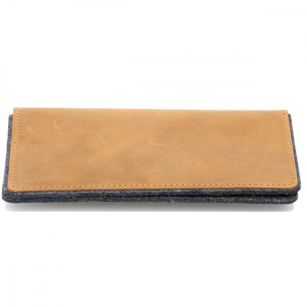 g.5 iPhone 11 Wallet in Leder schwarz, grau, dunkelbraun und hellbraun