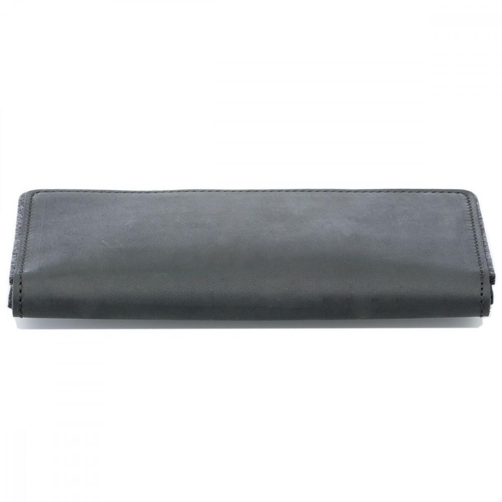 g.5 iPhone XIR Wallet in Leder schwarz, grau, dunkelbraun und hellbraun