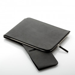 ZIP Sleeve iPad Air in Leder schwarz