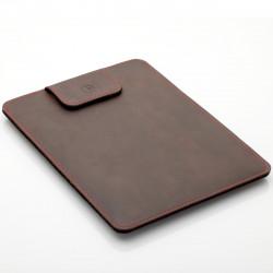 "MacBook Air 13"" Sleeve in dunkelbraunem Leder"