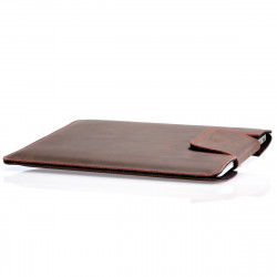 "MacBook Pro 16"" Lederhülle -Schutzhülle aus vegetabil gegerbtem Leder mit Lasche - made in Germany"