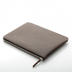 ZIP leather sleeve with zipper for 12.9 iPad Pro