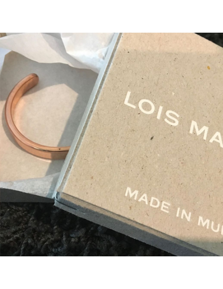 Lois Mathar Armreif Kupfer / Bracelet  Copper Verpackung