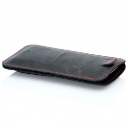 g.4 iPhone 12 Mini Lederhülle aus Leder in dunkelbraun, camel schwarz und grau