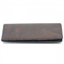 g.5 iPhone 12 Mini Folio Wallet Leather in black, grey, camel and dark brown leather