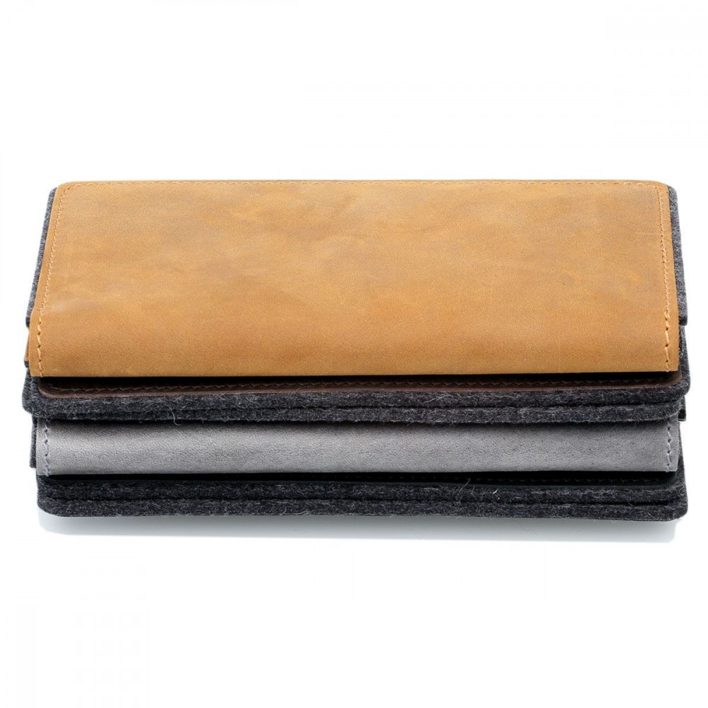 g.5 iPhone 12 Pro Folio Wallet Leather in black, dark brown, camel and grey