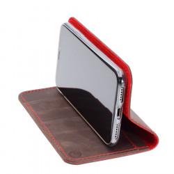 iPhone 11 Pro Ledercase Red– Case und Portemonnaie in dunkelbraun, camel, schwarz und grau