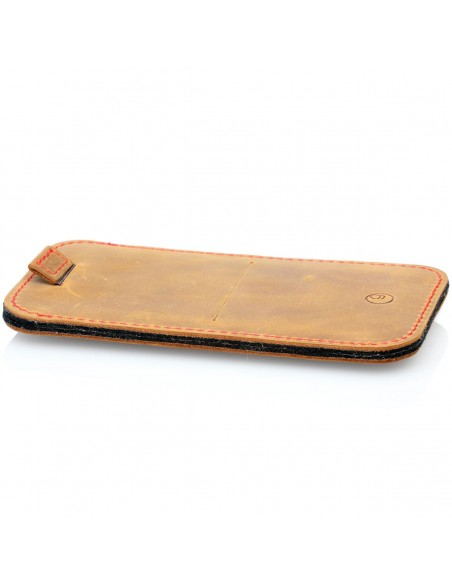 g.4 iPhone 12 Pro Max Leather Sleeve in camel, dark brown, grey and black