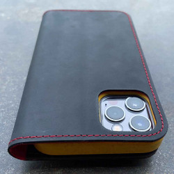 iPhone 12 Pro leather case...