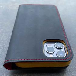 iPhone 12 Pro Case aus Leder mit integriertem biologisch abbaubaren Bumper