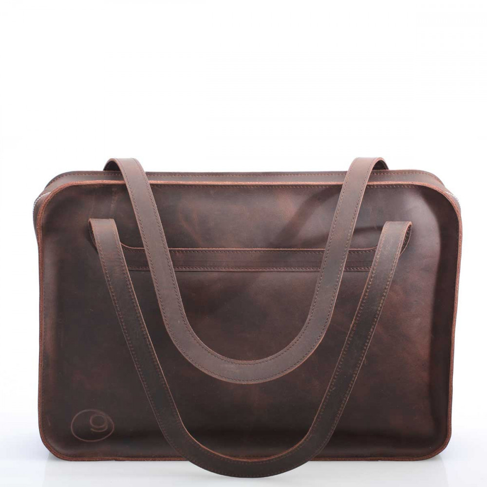 "ZIP BAG - leather bag with felt inlay for 13"" laptops - made in Germany - available in black, dark brown and camel"