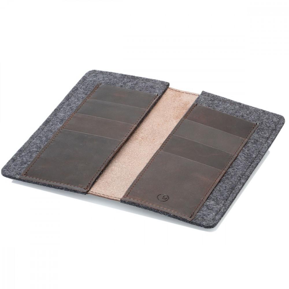 g.5 Samsung Galaxy S21 Walletin black, grey, camel and dark brown leather