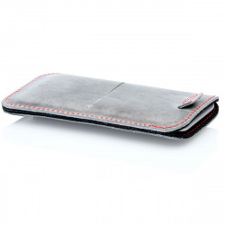 Samsung Galaxy S20 FE Leather Sleeve in camel, dark brown, grey and black