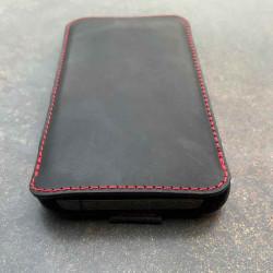 g.4 iPhone 13 Pro Max Lederhülle in dunkelbraun, camel schwarz und grau