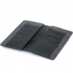 g.5 iPhone 13 Pro Wallet Leather in black, dark brown, camel and grey - made in Germany
