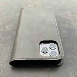 iPhone 13 Mini Brieftaschen Case Leder – Case und Portemonnaie in dunkelbraun, camel, schwarz und grau
