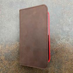 iPhone 13 Pro Leder Case – Folio Wallet  in dunkelbraun, camel, schwarz und grau - Made in Germany