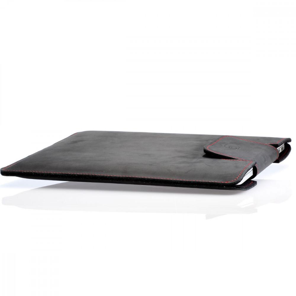 """MacBook Pro 13"""" Hülle schwarz - aus pflanzlich gegerbtem Leder - 100% made in Germany"""